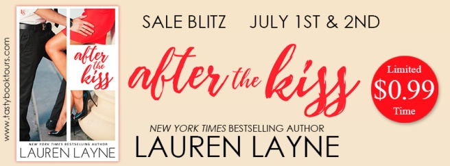 After the Kiss by Lauren Layne book sale blitz